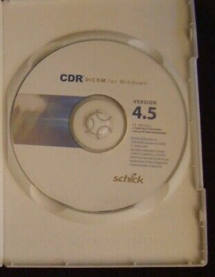 Schick CDR DICOM 4.5 Software & License Read Description.