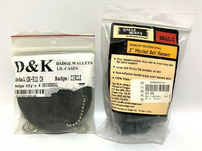 """Uncle Mike's Professional Belt Keeper W/ Snap Closure 2"""" (4 Pack) Molded Plain"""
