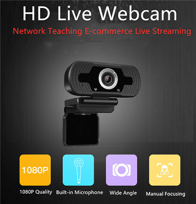 HD Webcam Built-in Microphone Drive-free Video Conference 1080P Live USB Webcam