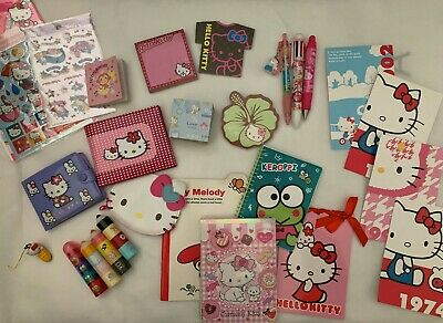 Lot of 5 Hello Kitty and Sanrio Stationary - Some new/lightly used/vintage