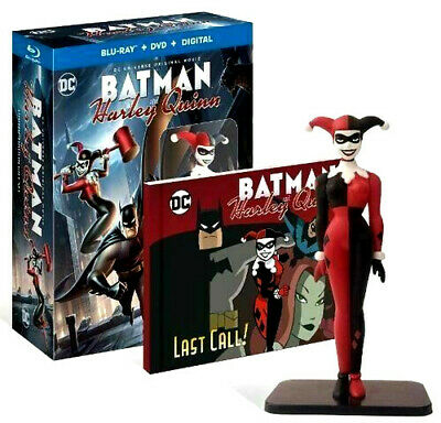 DC BATMAN and HARLEY QUINN: LIMITED-EDITION GIFT SET, W/STATUE, NEW, FREE SHIP
