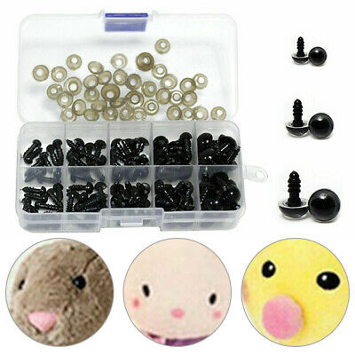 100pcs DIY Plastic Safety Eyes Noses For Soft Toy Bear Doll Animal Making Tools