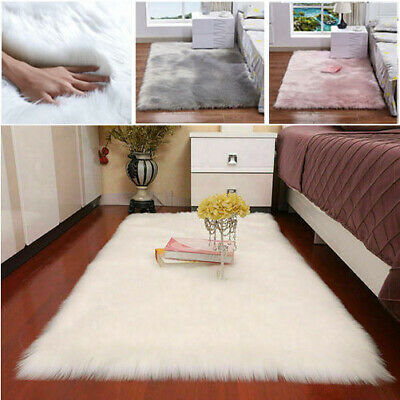Extra Large Faux Fur Fluffy Sheepskin Rug Shaggy Rugs Non Slip Floor Carpet Soft