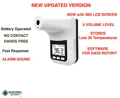 Industrial Automatic Hands Free Body Thermometer Body Temperature Scanner