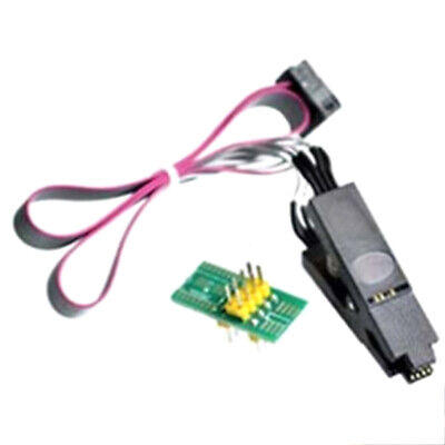 1x Eeprom Flash BIOS USB Programmer SOIC8 Clip On-Board for 24 25 Series !