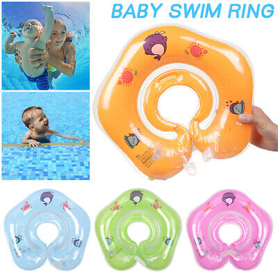 *Baby Swim Ring Neck Collar Floating For Toddlers PVC Inflatable Dual Handle'