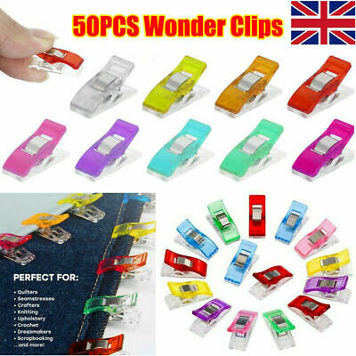 Plastic Quilter Holding Wonder Clips Clamps Sewing Craft Binding UK