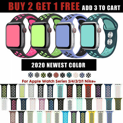 Silicone Sport Replacement Band For Nike+ Apple Watch Series 5 4 3 2 38/40/42/44