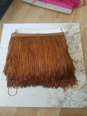 Fringing Trim lace trimming BLUE 1m 15cm drop Tassel Fringe