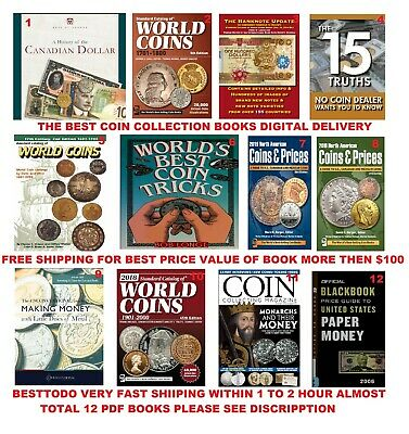 KRAUSE Standard Catalogs of World Coins 12 Pcs Coin collection Digital Books