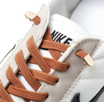 Elastic No Tie Shoelaces Easy Shoe Laces Trainers Shoes (Adult & Kids)