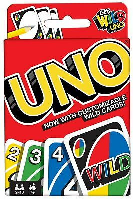 Uno Wild Card Game 112 Playing Cards Indoor Family Children Friends Party Gift U