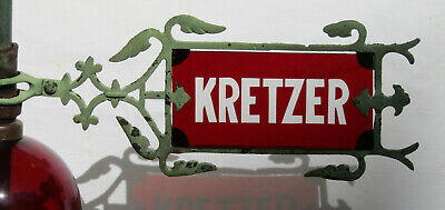 Vintage Antique Kretzer Weathervane Arrow With Ruby Red Glass - Superb