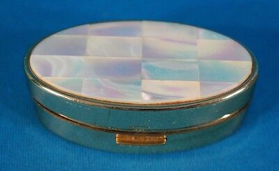 Max Factor Lipstick Case Brass W/Mother of  Pearl Inlay on the Top England