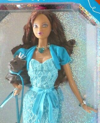Birthstone Beauties Miss Turquoise December Barbie African American Aa L7584 Nib