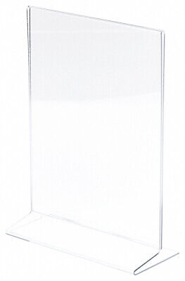 "Plymor Clear Acrylic Sign Display/Literature Holder (Side-Load), 8.5"" W x 11"" H"