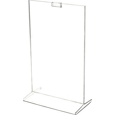 "Plymor Clear Acrylic Sign Display / Literature Holder (Top-Load), 7"" W x 11"" H"