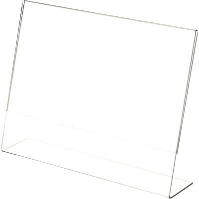 """Plymor Clear Acrylic Sign Display / Literature Holder (Angled), 12"""" W x 9"""" H"""