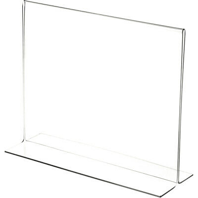 "Plymor Clear Acrylic Sign Display/Literature Holder (Bottom-Load), 11"" W x 8.5""H"