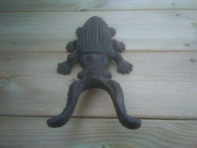 """Antique 1900's Cast Iron Beetle Boot Remover Puller """"Kenrick??"""""""