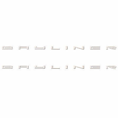 BAYLINER 23 x 1 1//8 INCH BOAT DECALS Pair decal