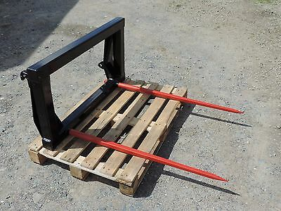 Front End Loader Bale Spikes With Euro Brackets. Free Delivery.