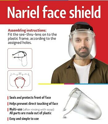 PPE Face shield clear plastic re useable