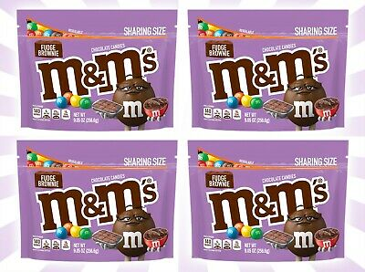4 M&M's Fudge Brownie Sharing Size LIMITED EDITION Chocolate Candy 9.05 OZ
