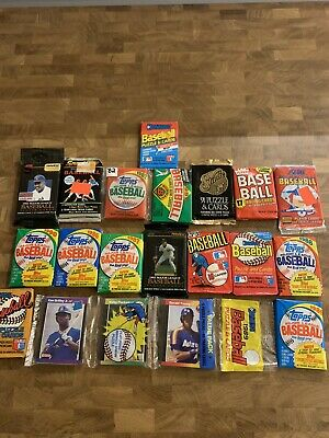 Old Baseball Cards Unopened Packs from Wax Box - Vintage 100 Card Lot