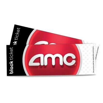 AMC Theaters 1 Black Movie Ticket No Expiration! Email Delivery PIN included