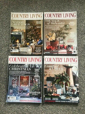 4X Country Living Magazines