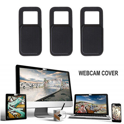 Webcam Cover 3 PACK Thin Camera Sticker Slider for iphone Laptop Mobile Tablet