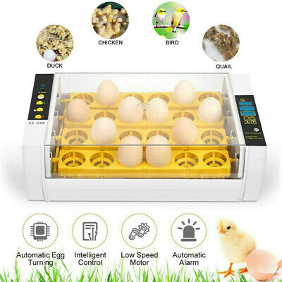 Home Farm Digital 7/24 Chicken Egg Incubator Poultry Temperature Control UK