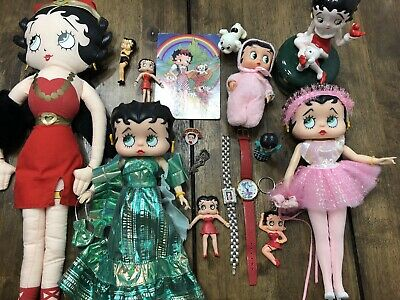 Betty Boop Dolls Plush Watches Pins Key Chain Rubber Figures Magnet Music Box
