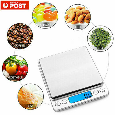 0.10G-500G Kitchen Food Scale Digital Electronic Balance Weight Scales LCD