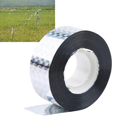 B74A 295ft Visual Audible Emitting Ribbon Holographic Flash Bird Scare Tape 90M*