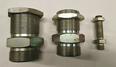 Hydraulic Adaptor BSP Male Bulkhead with Locknut -various sizes- BSPP coned male