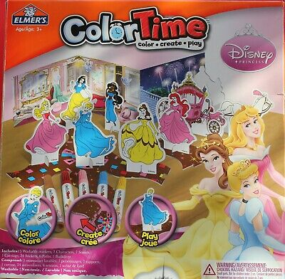 Disney Princess Color Time Craft Game & Toy!    New