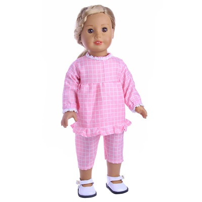 "Fits 18""Inch American Girl Doll Handmade Accessories lattice two-piece Clothes"