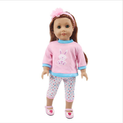 Fits 18 Inch American Girl Doll Accessories Handmade Doll Three-piece Clothes