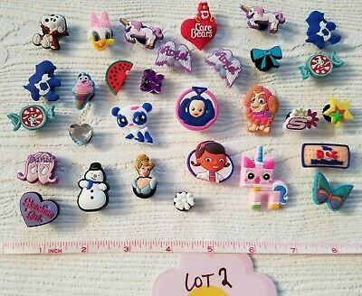 Lot PVC Girls Shoe Charms for crocs Cartoons Cinderella Care Bears (lot#2