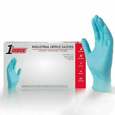 100 Industrial Medium 1St Choice Blue Nitrile Latex Free Disposable Gloves