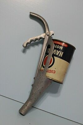 Vintage Oil Can Spout Funnel Rite-Way MFG Co Gas Station Rat Hot Rod Barn Find
