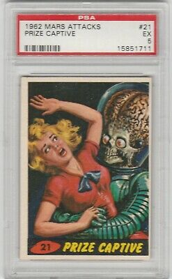 1962 Mars Attacks #21 Prize Captive Psa 5 Ex Topps Bubbles Inc.