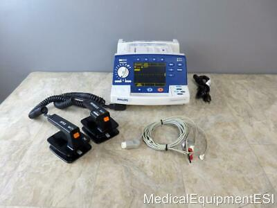 Philips Heartstart XL Biphasic 3 Lead ECG Analyze Pacing with Hard Paddles