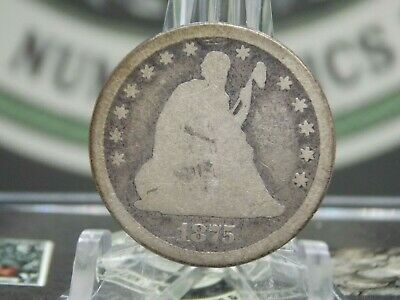 """1875 """"CC"""" Seated Liberty Quarter 25c #1 East Coast Coin & Collectables, Inc"""