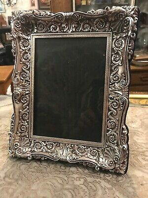 Vintage Ornate Silverplate Photo Frame Picture
