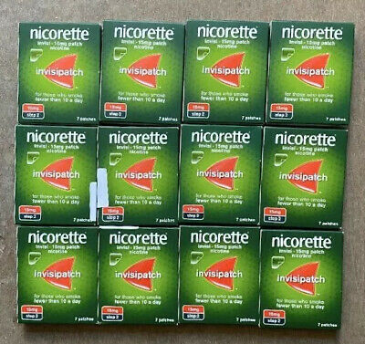 6 x Nicorette Step 2 15mg Invisi Patches 7 Days Brand New FAST POSTAGE