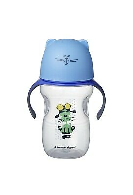 Tommee Tippie toddler 12M soft sippee trainer cup blue cat