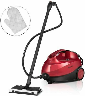 COSTWAY 2000W Multipurpose Steam Cleaner with 19 Accessories w/ 1.5L Tank - Red